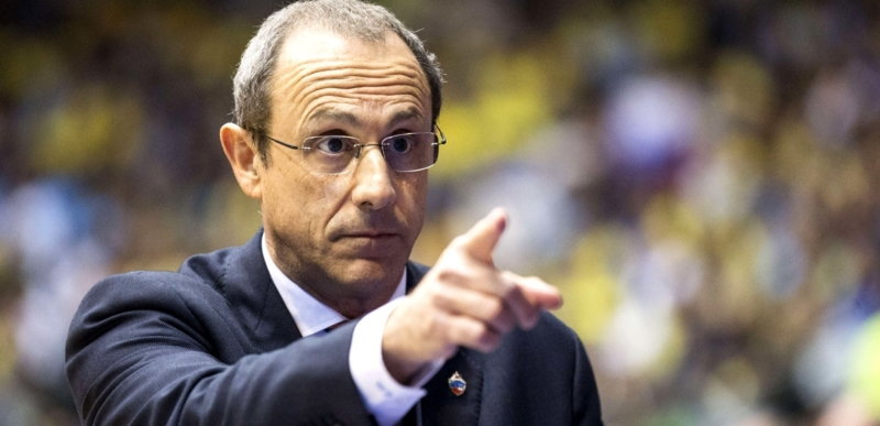 Russia CSKA Moscow's Head Coach Ettore Messina reacts during his Euroleague Top 16 qualifying basketball match against Maccabi Tel Aviv on April 10, 2014 at the Nokia stadium in the Mediterranean coastal city of Tel Aviv, Israel. AFP PHOTO / JACK GUEZJACK GUEZ/AFP/Getty Images ** OUTS - ELSENT, FPG - OUTS * NM, PH, VA if sourced by CT, LA or MoD **