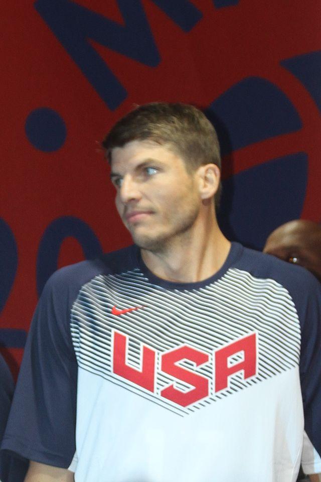Kyle Korver, guardia degli Atlanta Hawks, con la maglia del Team USA.