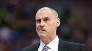 Feb 26, 2014; Dallas, TX, USA; Dallas Mavericks head coach Rick Carlisle reacts to a call during the second half against the New Orleans Pelicans at the American Airlines Center. The Mavericks defeated the Pelicans 108-89. Mandatory Credit: Jerome Miron-USA TODAY Sports