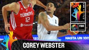 Corey Webster con la maglia della nazionale neo-zelandese durante i mondiali dello scorso anno