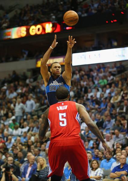 Justin Anderson nella partita contro i Los Angeles Clippers