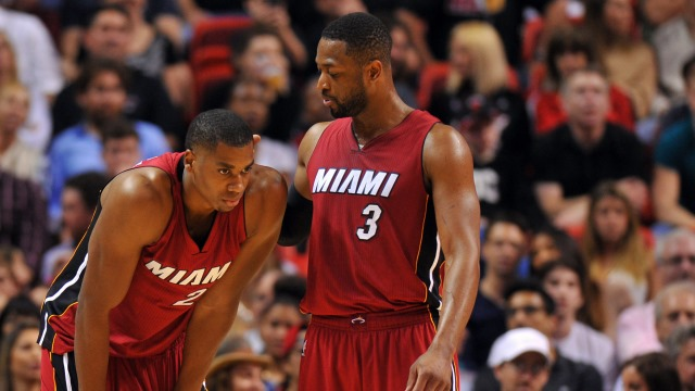 Whiteside Wade Miami Heat
