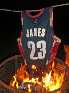 Burning 1 LeBron James