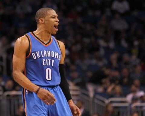 Russell Westbrook degli Oklahoma City Thunder
