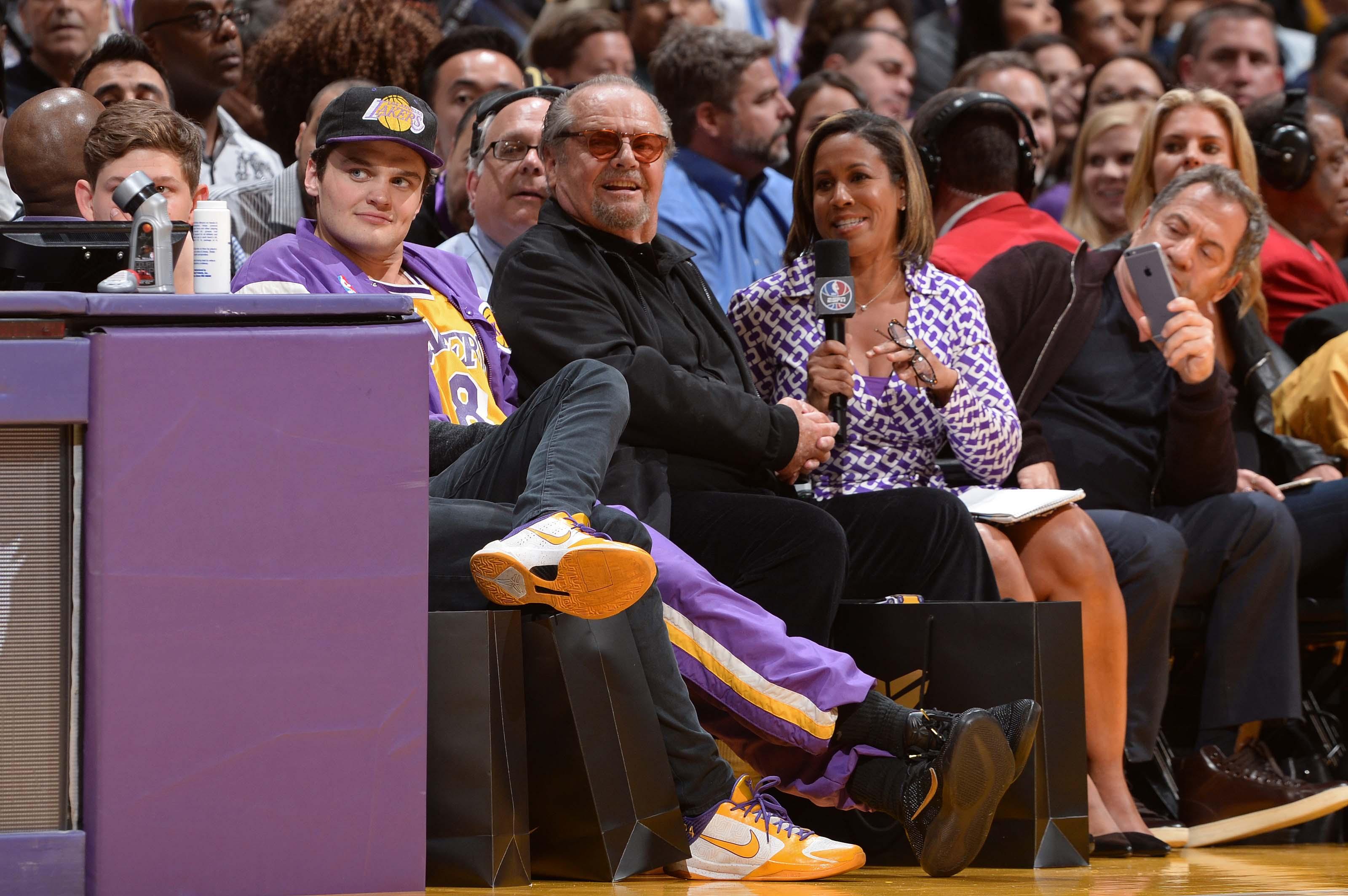 sports shoes 3e47b 511f9 Del Piero, Kanye West e Jack Nicholson  tutti i vip presenti al match di  addio di Kobe