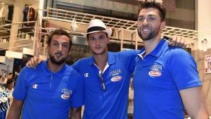 Da sinistra: Marco Belinelli, Danilo Gallinari e Andrea Bargnani