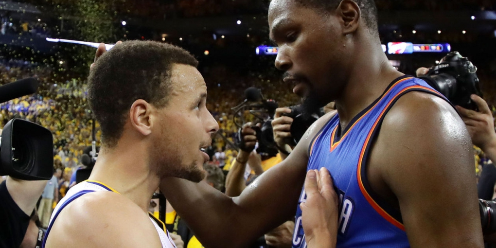Kevin Durant e Curry