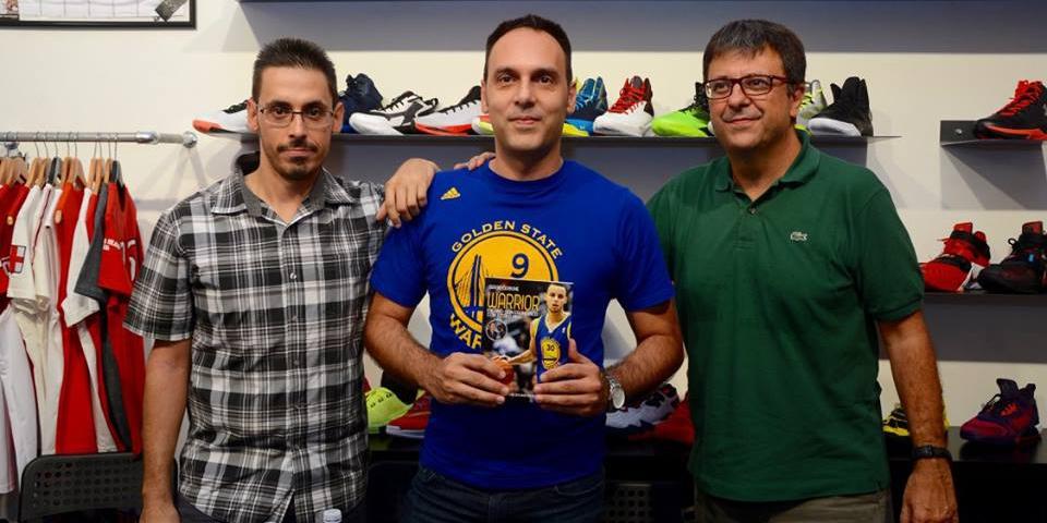 Flavio tranquillo e sergio cerbone presentano warrior for Basketball store milano