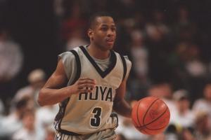 Iverson con la maglia dei Georgetown Hoyas