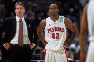Coach Rick Carlisle e Jerry Stackhouse