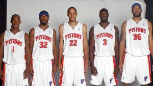 Il formidabile starting-five dei Pistons