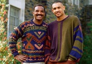Grant Hill con suo padre Calvin.