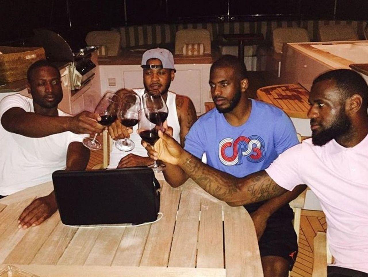 Wade, LeBron, Melo e Chris Paul