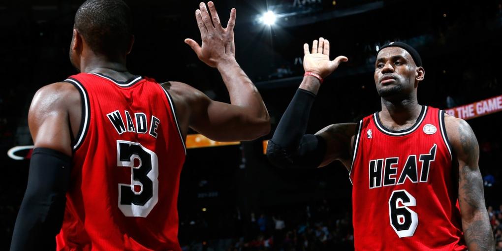LeBron James e Dwyane Wade