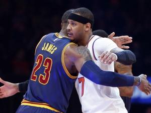 LeBron James e Carmelo Anthony