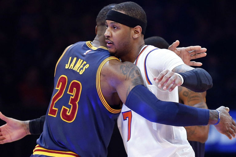 LeBron James e Carmelo Anthony