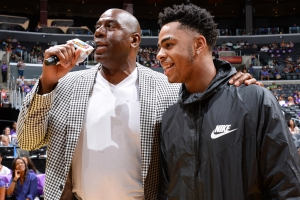 Magic Johnson e D'Angelo Russell, passato e futuro dei Lakers