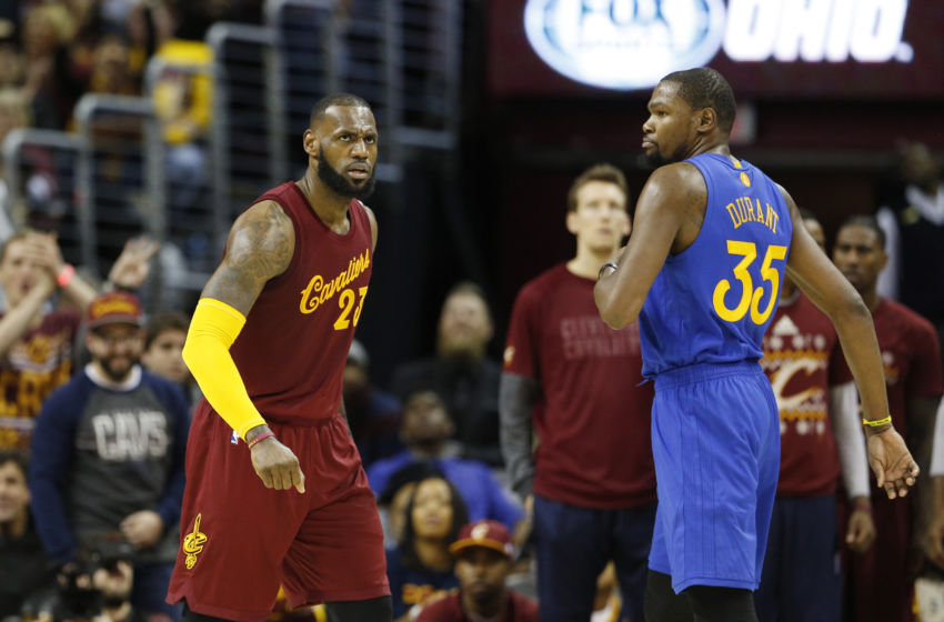 NBA: Golden State Warriors at Cleveland Cavaliers LeBron James vs KD