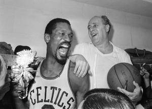 Bill Russell e coach Red Auerbach, braccio e mente della dinastia dei Boston Celtics negli Anni '60