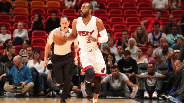 Wayne Ellington in azione con la maglia degli Heat
