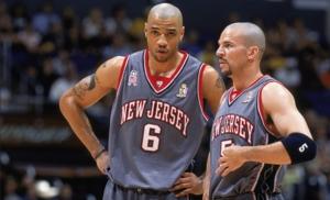 Kidd ai New Jersey Nets con Kenyon Martin