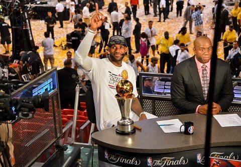 LeBron James e Magic 2013 NBA Finals - Game Seven
