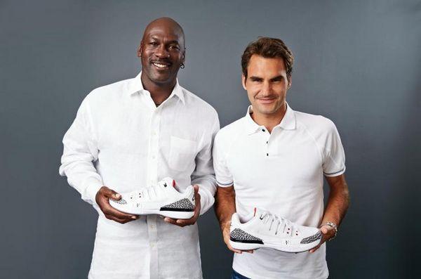 Jordan-Federer-Michael Jordan e Federer