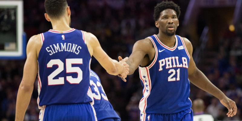 Programmazione Sky Sport NBA-Ben Simmons e Joel Embiid, le stelle dei Philadelphia 76ers