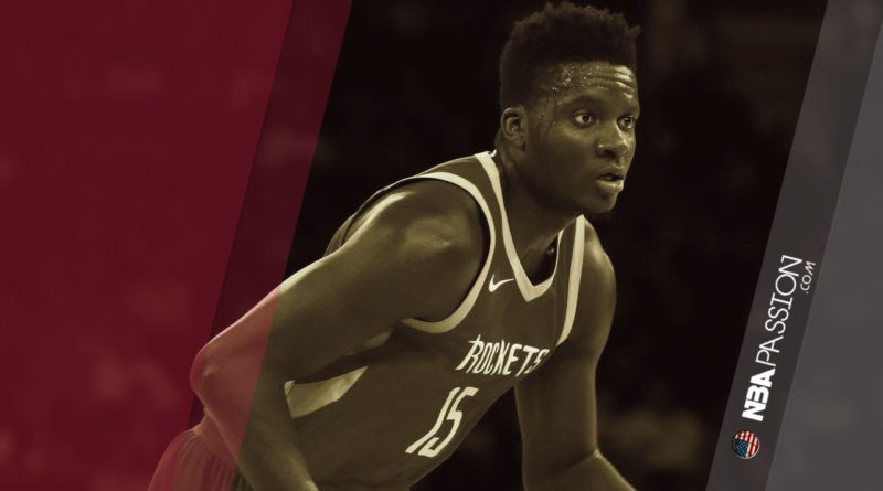 Clint Capela, centro degli Houston Rockets.