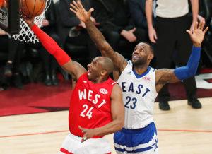 ASG 2016: Kobe Bryant contro LeBron James