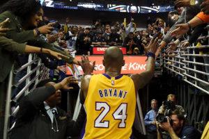 13 aprile 2016: Kobe Bryant indossa per l'ultima volta la maglia gialloviola