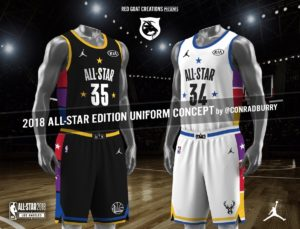 Divise All-Star Game 2018. Fonte Twitter @ConradBurry