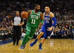 Kyrie Irving (Celtics) contro Ben Simmons (Sixers)