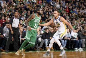 duello Curry-Irving-boston-celtics-golden-state-warriors