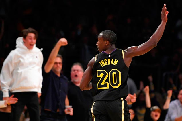 Andre Ingram all'esordio con la maglia dei Los Angeles Lakers