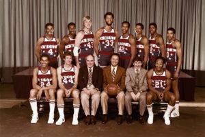 Il Team West all'ASG 1980. Davis è il secondo in alto da sinistra, Johnson il terzo in alto da destra, Free il primo in basso a destra