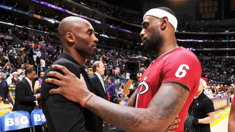 Kobe Bryan and LeBron James