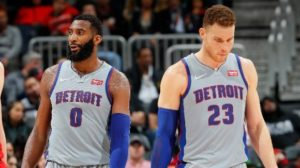 Andre Drummond (a sinistra) e Blake Griffin