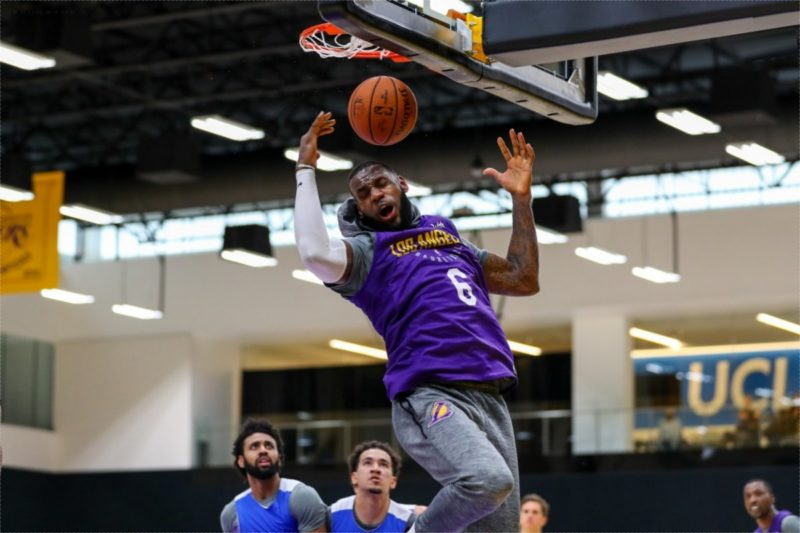 LeBron James al Los Angeles Lakers Training Camp