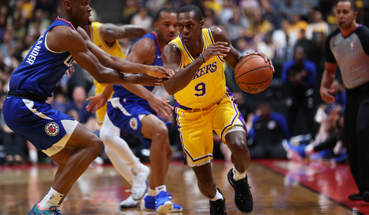 Rajon Rondo, Los Angeles Lakers vs LA Clippers at Honda Center