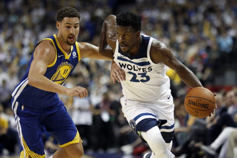 Butler-T'Wolves-NBA Sunday-Warriors