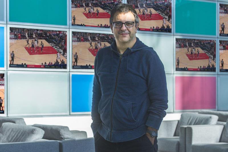 Flavio Tranquillo negli studi Sky