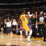 Lakers-Mavericks-Scommesse NBA-LeBron James, Los Angeles Lakers reacts against vs San Antonio Spurs at Staples Center