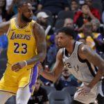 LeBron James, Los Angeles Lakers vs San Antonio Spurs at AT&T Center