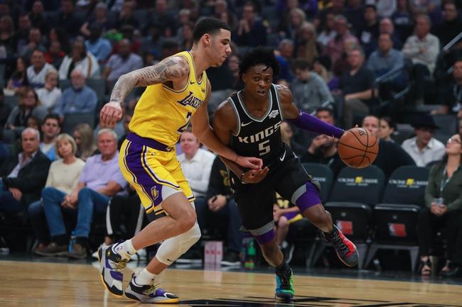 Lonzo Ball and De'Aaron Fox, Los Angeles Lakers vs Sacramento Kings at Golden 1 Center