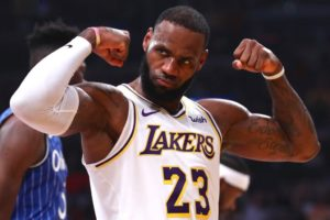 LeBron James, Los Angeles Lakers vs Orlando Magic at Staples Center