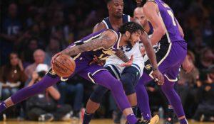 Brandon Ingram, Los Angeles Lakers vs Minnesota Timberwolves at Staples Center