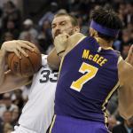 Marc Gasol and JaVale McGee, Los Angeles Lakers vs Memphis Grizzlies at FedExForum