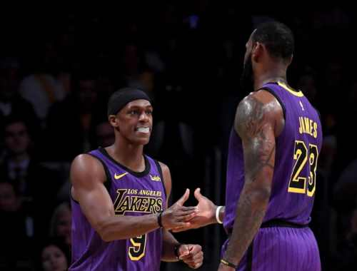 Rajon Rondo and LeBron James, Los Angeles Lakers vs Golden State Warriors at Oracle Arena