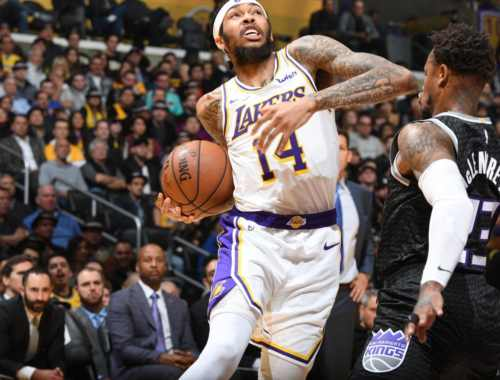 Brandon Ingram, Los Angeles Lakers vs Sacramento Kings at Staples Center
